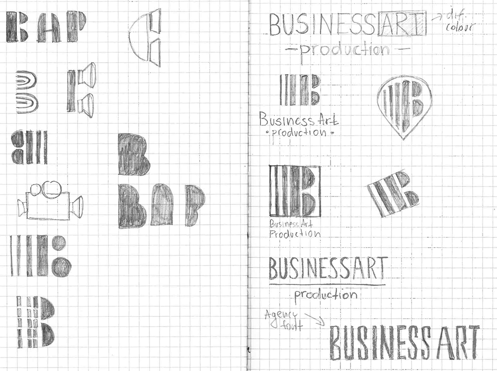 Business Art Production Logo Sketches