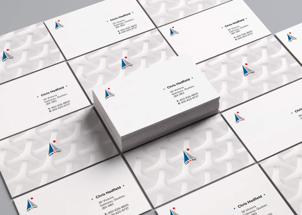 Canadian Space Agency Business Card Design