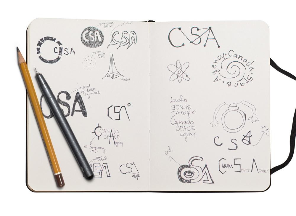 Canadian Space Agency Logo Sketches