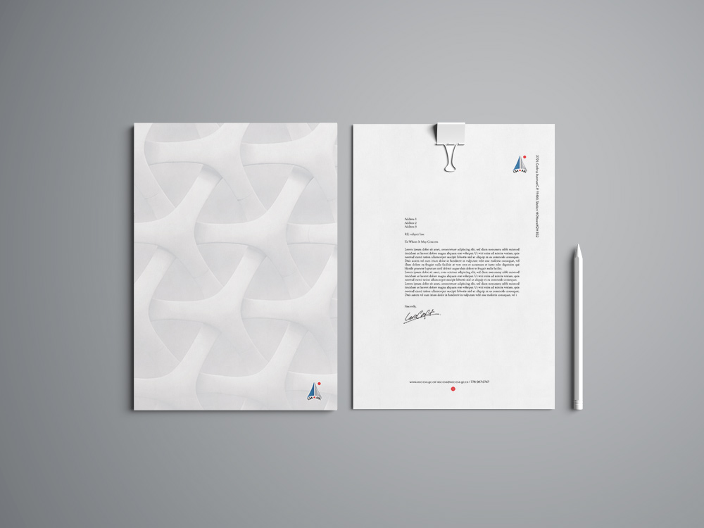 Canadian Space Agency Stationery Design