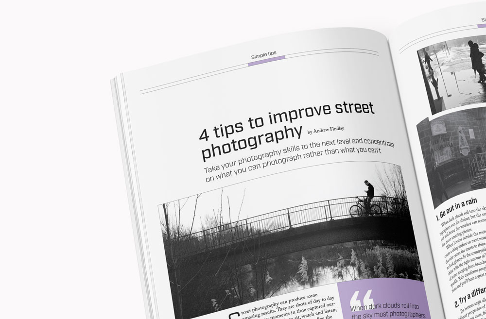 Depth of Streets Magazine Inside Spread (4 tips to improve street photography)